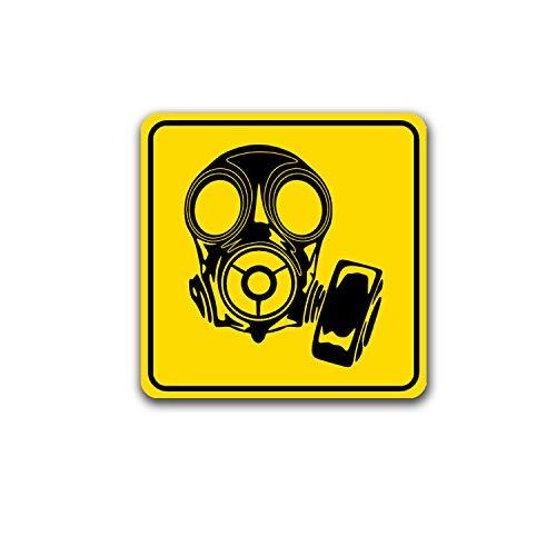 Aufkleber/Sticker Atemschutz Gasmaske Schild Hinweisschild SOS 7x7cm A5092