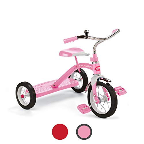 """Radio Flyer Classic Pink 10"""" Tricycle, toddler trike, ages 2-4"""