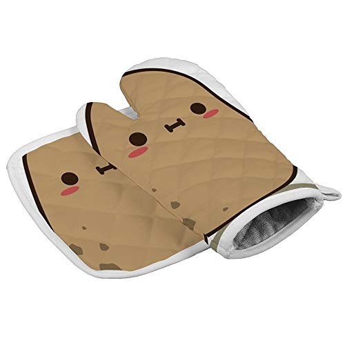 N/A Isolatie handschoenen Schattige Aardappel in Liefde Professionele hittebestendige Oven Manten, Inclusief geïsoleerde handschoenen en geïsoleerde vierkante pads