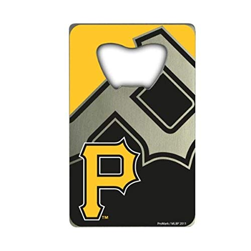 FANMATS Unisex's MLB - Pittsburgh Pirates Credit Card Bottle Opener, Team Color, 3.25'x2'