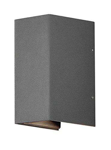 Gnosjö Konstsmide Wandleuchte, Aluminium, Integriert, grau, 8 x 11 x 17 cm