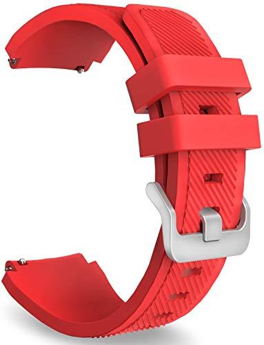 NeatCase Correa de Reloj Recambios Correa Relojes Caucho Compatible con Amazfit Pace/Stratos/GTR 47mm - Silicona Correa Reloj con Hebilla (22mm, 3PCS C)