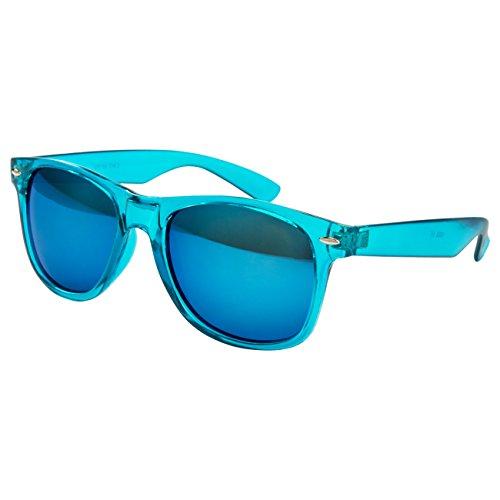 Ciffre Nerdbrille Sonnenbrille Stil Brille Pilotenbrille Vintage Look Türkis Transparent W33