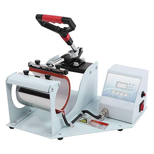 Máquina de Prensa de Calor Digital, 400 Grados sin Deformación Control Automático de Tiempo Impresora Digital Taza de Sublimación Multifunción Máquina Transferencia Prensa de Calor para Taza Café(UE)