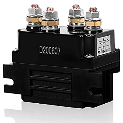 Ayleid 12V 500A Winch Solenoid Relay, Winch Contactor for 8000-15000lb 4WD 4x4 Winch Replacement