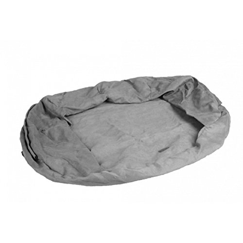 KARLIE FLAMINGO Ersatzbezug ORTHO BED oval grau für Hunde 120,0 cm x 72,0 cm x 24,0 cm
