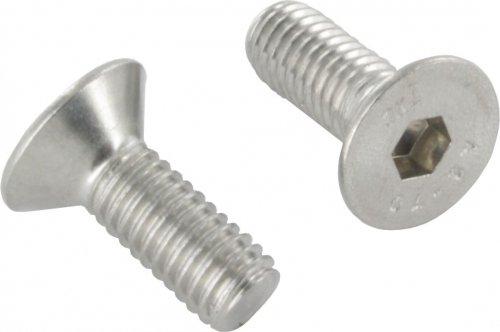 V4A Senkkopfschraube mit Innensechskant, M8 x 25mm, ISO 10642, 10er Pack