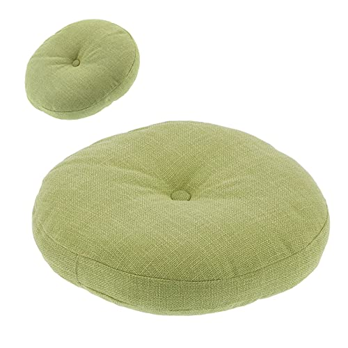 Cojín para silla, extraíble Anti-pilling Cojín de respaldo verde Cojín de asiento portátil Cojín de silla lavable para la escuela para el hogar para picnic para acampar para la oficina