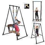 Gym Workout Barra De Dominadas suelo KT1.1518, Máquina dominadas musculacion PLEGABLE, Altura ajustable, Aparatos De Gimnasia para casa/mayores muy estable, ligero, Barra Para Dominadas duradera