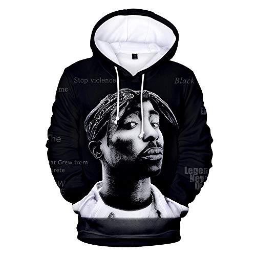 Hip Hop Gangsta Rap 2Pac Hoodies Herren Sweatshirt Hoodie Herren/Damen 2Pac Tupac Hoodie Pullover Winter Cap Kleidung