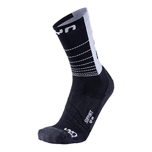 UYN Herren Cycling Support Socke, Black/White, 42/44