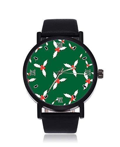 Reloj de Pulsera de Cuarzo analógico con diseño de Navidad con Acebo,...