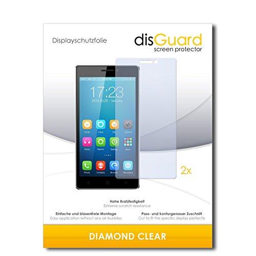 disGuard 2 x Bildschirmschutzfolie Haier Voyage V3 Schutzfolie Folie DiamondClear unsichtbar