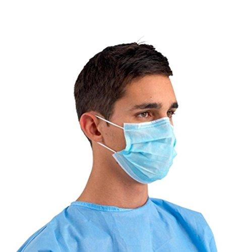 Rays - Mascarilla quirúrgica de polipropileno con 3 capas y elástico