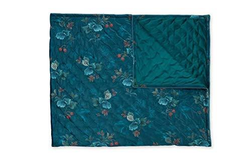 PiP Studio Uberwurf Leafy Stitch Quilt Double: 250 x 260 Blue