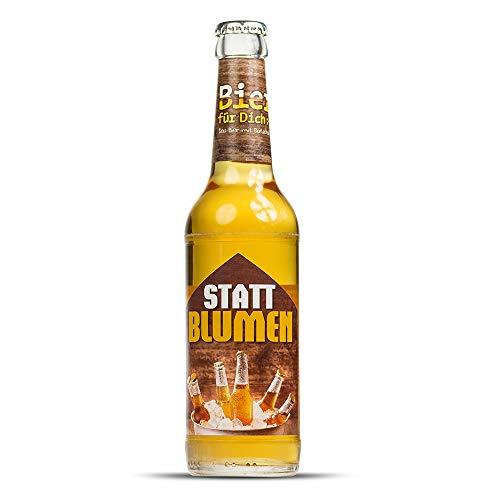 Monsterzeug Bier statt Blumen - Biergeschenk, Lustiges Etikett, Pils verschenken, Bierflasche 0,33 Liter, 5,2% Vol.