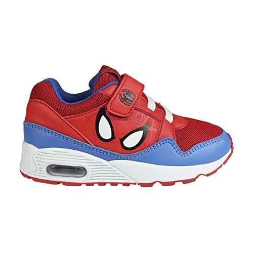 Spiderman S0714588, Basket Mixte bébé, Rouge Bleu, 3.5_Ans