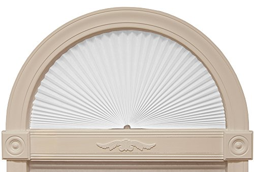 "Original Arch Light Filtering Fabric Shade, White, 72"" x 36"""