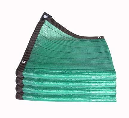 AWSAD Red De Sombra De Aguja Plana Verde, Red De Protección Solar Multifunción, Encriptada Y Engrosada, Antienvejecimiento, Coche Balcón Patio, 22 Tamaños (Color : Green, Size : 3x8m)