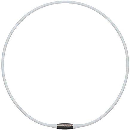 TDK EXNAS エクナス D1 磁気ネックレス 50cm-WHホワイト*ネオジウム磁石で肩、首の血行を促進させ、コリを改善!