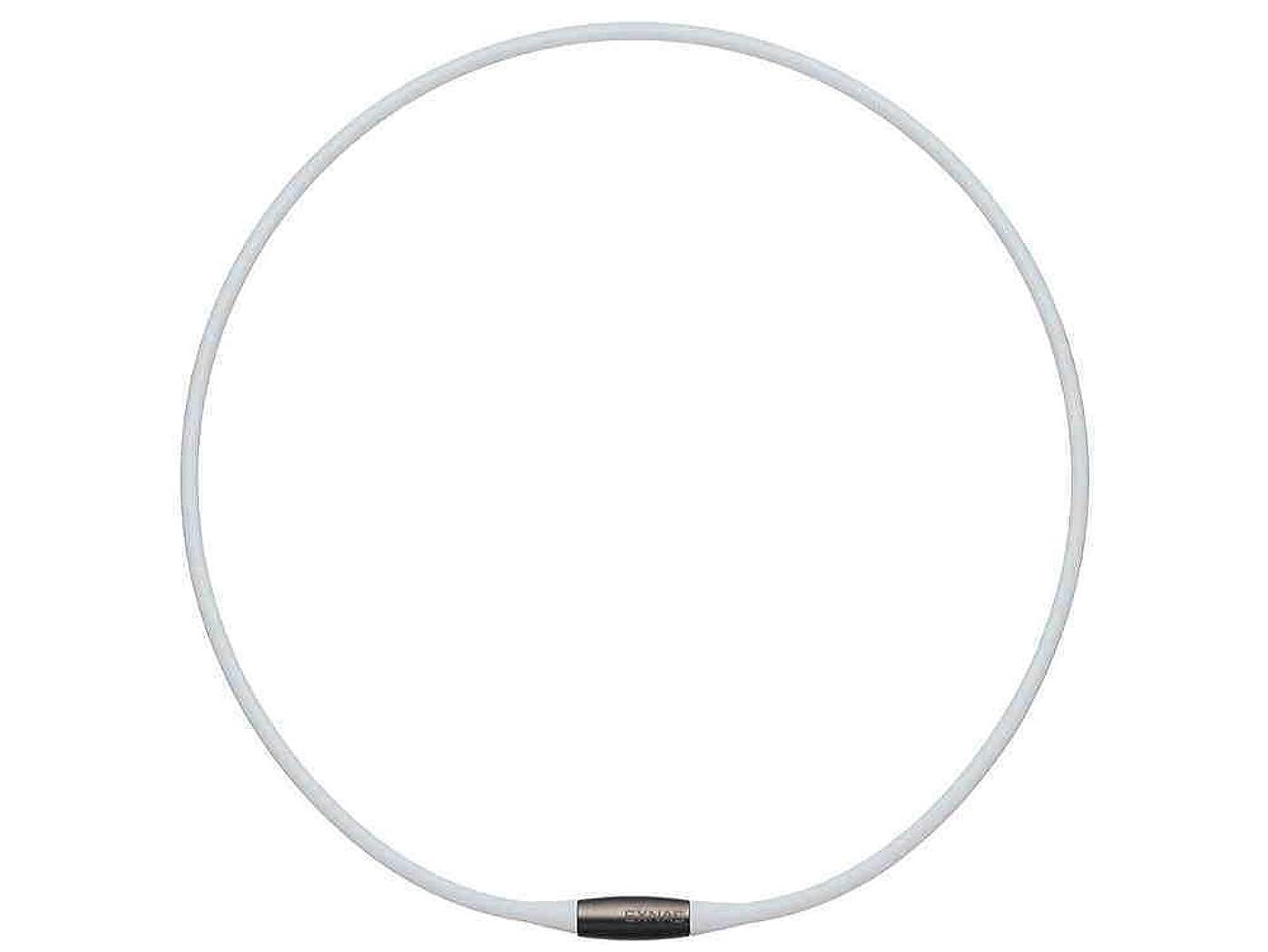 誘惑するディスクメニューTDK EXNAS エクナス D1 磁気ネックレス 50cm-WHホワイト*ネオジウム磁石で肩、首の血行を促進させ、コリを改善!