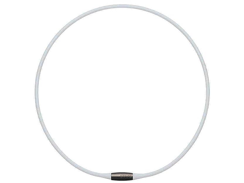 賞記事シビックTDK EXNAS エクナス D1 磁気ネックレス 50cm-WHホワイト*ネオジウム磁石で肩、首の血行を促進させ、コリを改善!