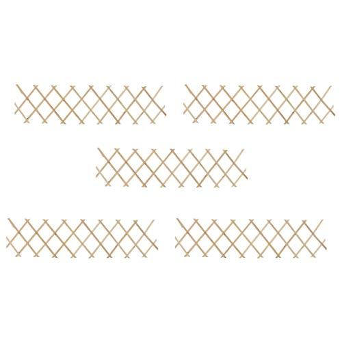 vidaXL 5X Tannenholz Massiv Rankzaun Erweiterbar Rankgitter Rankhilfe Scherengitter Spalier Blumengitter Pflanzengitter Holzgitter 180x30cm