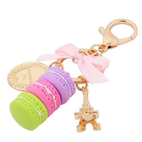 MZP La Corée du Sud de l'arc créatif peut Aima Ka long ornements clé de voiture ornements Pendentif chaîne de clés Mme sac