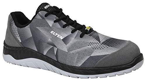 ELTEN Sicherheitsschuhe LANDON grey Low ESD S1, Herren, Sneaker, sportlich, super leicht, Grau, Stahlkappe - Größe 43