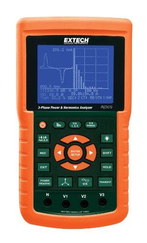 Extech PQ3470 Analizador gráfico de potencia y armónicos trifásico