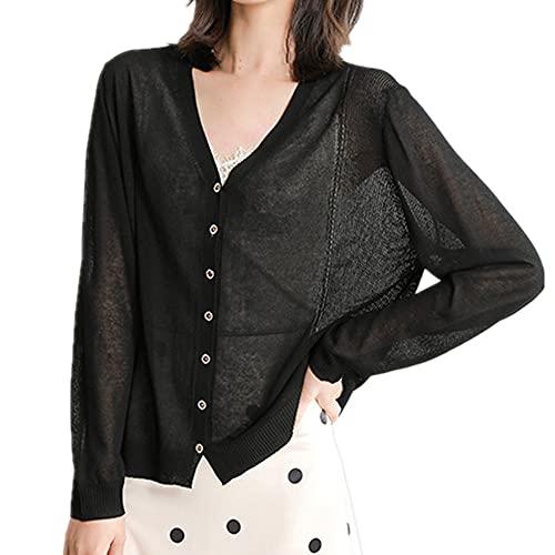 Camiseta de mujer fina chaqueta sólida básica de punto