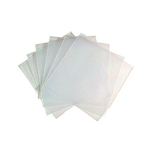 Fundas de PVC para CD/DVD (100 unidades), transparente