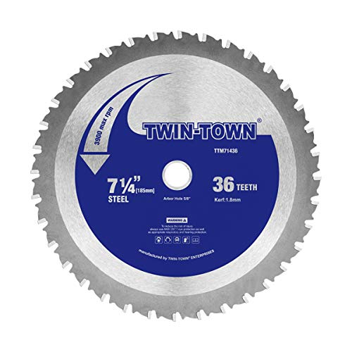 TWIN-TOWN 7-1/4-Inch 36 Teeth Steel and Ferrous Metal Saw Blade with 5/8-Inch DMK Arbor