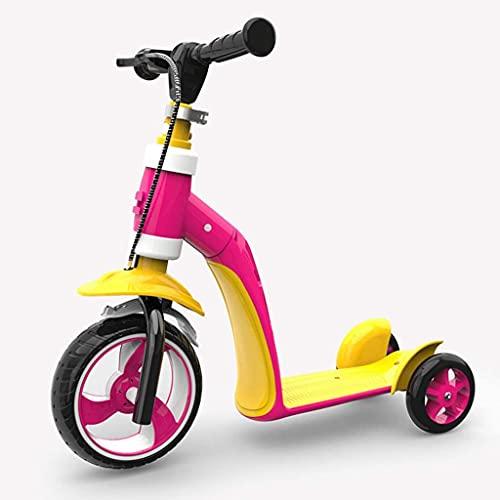 Patinete freestyle Triciclo convertible 2 en 1, bicicleta de equilibrio, scooter de patada para niños y niños pequeños, truco se convierte en un scooter de 3 ruedas para niños y niñas a la edad de 2 a