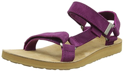 Teva Women's W Original Universal Suede Heels Sandals, Purple Dark Purple, 37