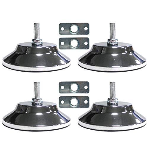 4pcs/Set Billiard Tisch Füße, Universal Verstellbar Levelers Möbel Nivellierung Füße Anpassung Pad Bein Richtmaschine Für Fußball Tisch Billardtisch Heim Tisch - Silbern