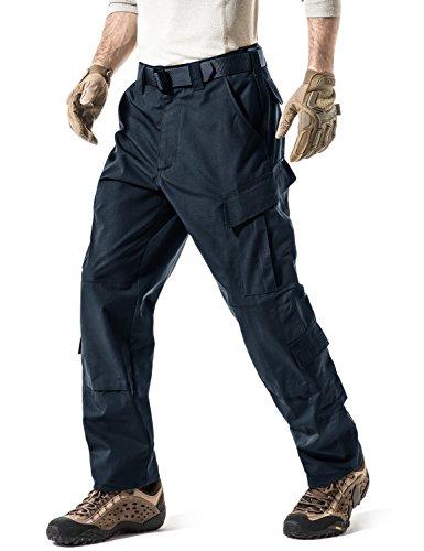 CQR Pantaloni tattici da uomo militari BDU/ACU, pantaloni cargo impermeabili da lavoro in Ripstop, Uap02, confezione da 1, blu marino, XL lunga