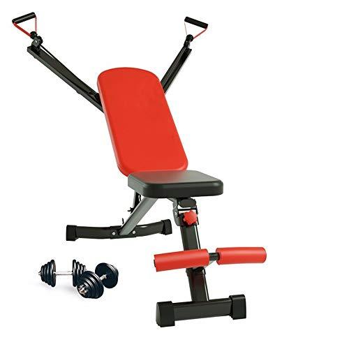 Ab Rocket Core Abdominal Trainer Muscle Body Toning plegable con mancuernas banco de fitness Silla Entrenador abdominal for el hogar Cardio entrenamiento de la gimnasia Equipo de entrenamiento ejercit