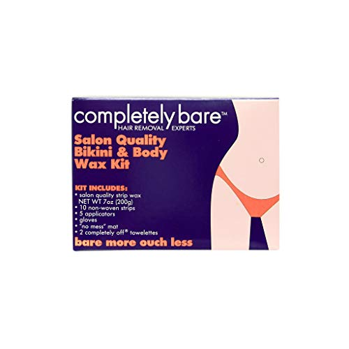 Completely Bare Salon Quality Bikini & Body Wax Kit - Smoother Skin and Less Redness, Easy To Use, No Mess, Irritation Free Body Hair Removal Treatment, Cruelty-Free Formula, 7oz