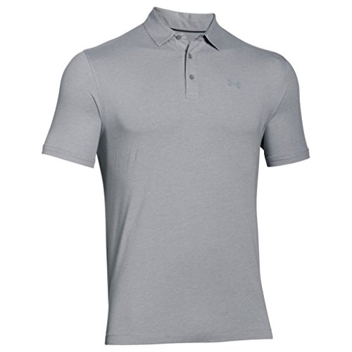 Under Armour - Charged Cotton Scramble Polo Chemise à Manches Courtes - Homme - Gris (True Gray Heather) - Taille: S