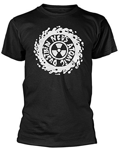 Plastic hoofd Neds Atomic vuilnisbak wit Logo T Shirt