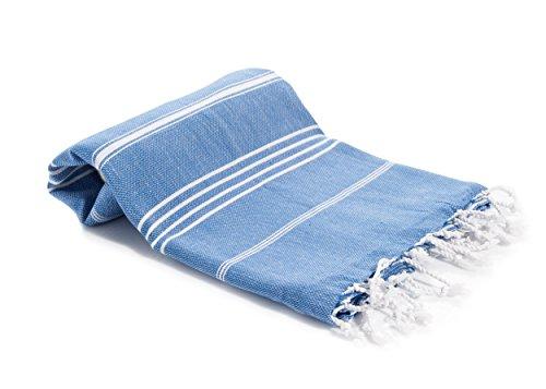 Decorous Hammam Toalla de playa Toalla de sauna - absorbente de secado rápido Luz XXL Toalla de baño Toalla deportiva Toalla de viaje 100% algodón con certificado OEKO-TEX de 180 x 100 cm