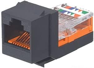Panduit NK5E88MBLY Category-5E 8-Wire Lead-Frame Style Jack Module, Black