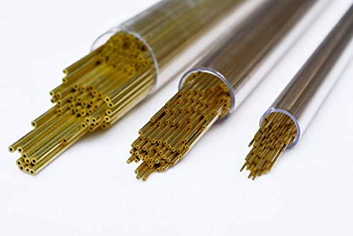 Hanwu 40 Stück von EDM Bohren Messing Elektrodenrohr OD 0,3 mm x 400 mm