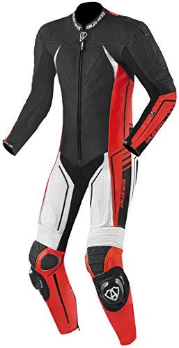 Arlen Ness TX-1 Un pezzo lungo tuta in pelle moto Nero/Bianco/Rosso 50