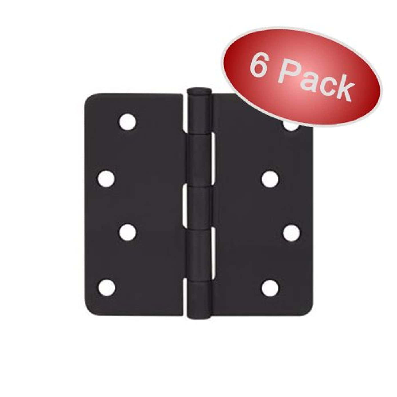Cosmas Flat Black Door Hinge 4