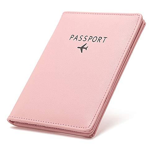 Passport Holder Travel Wallet, TCHEER RFID Blocking Leather Passport Cover...