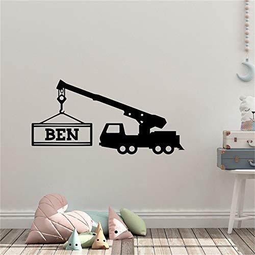 pegatina de pared 3d Nombre personalizado vivero hada estrellas Peter pan tinkerbell calcomanía etiqueta de la pared para sala de estar dormitorio