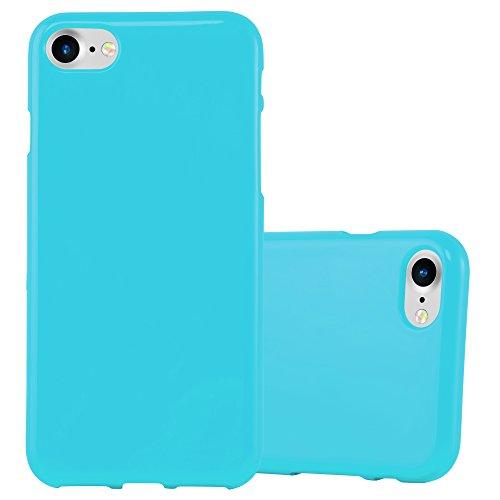 Cadorabo Funda para Apple iPhone 7 / 7S / 8 / SE 2020 en Jelly Azul Claro - Cubierta Proteccíon de Silicona TPU Delgada e Flexible con Antichoque - Gel Case Cover Carcasa Ligera