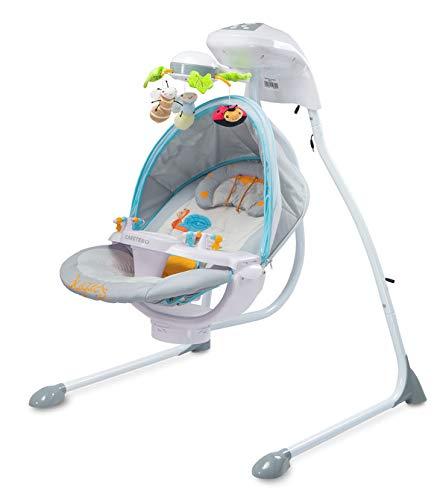 TERO-8075 Elektrische Babyschaukel Bugies grau